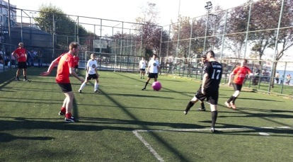 3sided football match